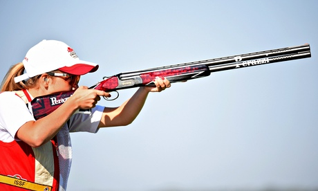 Teenager Amber Hill loses out in womens skeet shoot-off