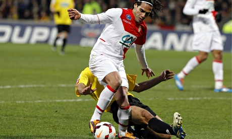 Monaco's Radamel Falcao has been sidelined since January because of extensive knee ligament damage