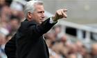Alan Pardew during Newcastle United against Manchester City