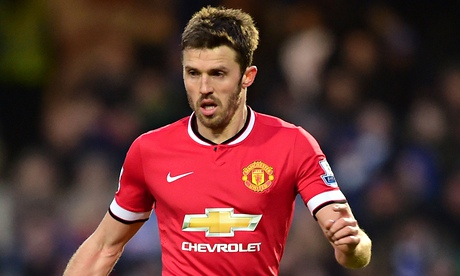 Manchester United's Michael Carrick out for four weeks with injury