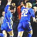 Wayne Bridge and Eidur Gudjohnsen