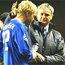 Eidur Gudjohnsen and Claudio Ranieri