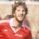 Ian Botham playing for Scunthorpe in 1980