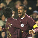 Cesc Fabregas and Thierry Henry