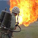 A flamethrower