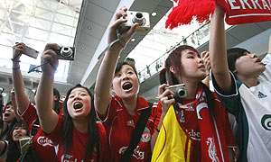 Liverpool fans in Hong Kong