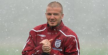 David Beckham in the snow