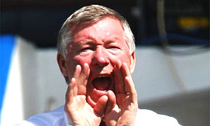 Alex Ferguson shouting