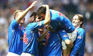 Rangers celebrate