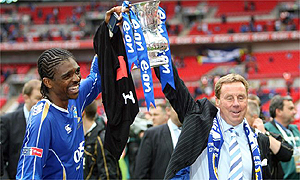 Kanu and Harry Redknapp