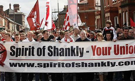 Протест болельщиков Ливерпуля