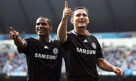Florent Malouda and Frank Lampard
