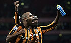 Marlon King and George Boateng celebrate