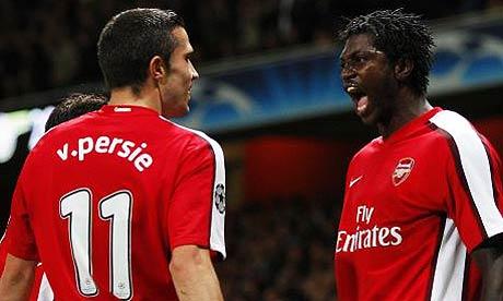 Robin Van Persie and Emmanuel Adebayor