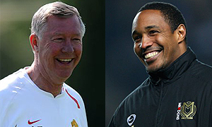 Sir Alex Ferguson and Paul Ince