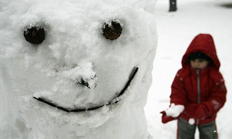 A scary snowman