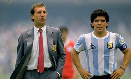 Carlos Bilardo and Diego Maradona