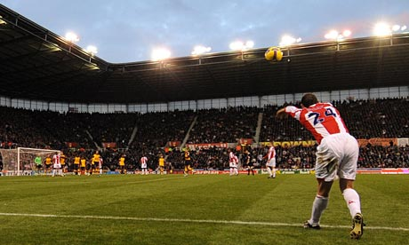 Delap with his spectacular throw in