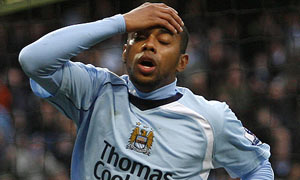 Manchester City's Brazilian forward Robinho