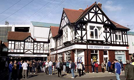 General view of the exterior of Fratton Park