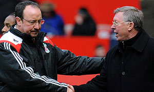 Rafael Benitez and Alex Ferguson