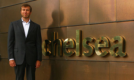 Roman Abramovich at the opening of Chelsea's new Cobham training facilities in 2007. Photograph: Ian Walton/Getty Images