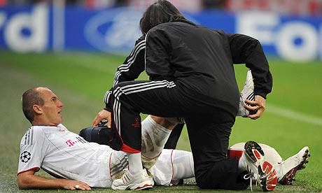 Robben de nuevo lesionado y rumbo al quirófano