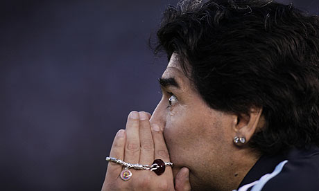 Maradona has attacked the job of managing Argentina like a kid given the new FIFA 2010 game on Playstation and a bucket of blue Smarties   Martin Samuel