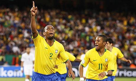 Brazil World Cup 2010 Team Celebrate Winning