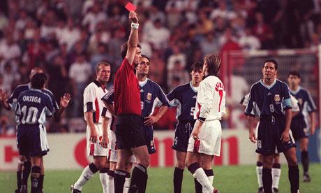 David Beckham red card against Argentina