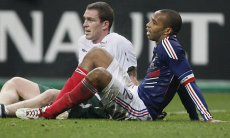 Thierry Henry, right, and Richard Dunne