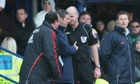 Rafael Benitez argues with the fourth official