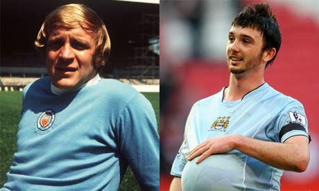 Francis Lee and Stephen Ireland MANCHESTER CITY'S OLD BADGE: It was much