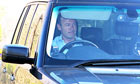 Alan Shearer arrives to take charge of Newcastle United training at Longbenton training ground