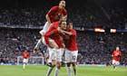 Manchester United celebrate against Arsenal