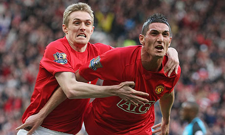Federico Macheda scores against Aston Villa