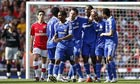 Chelsea celebrate against Arsenal