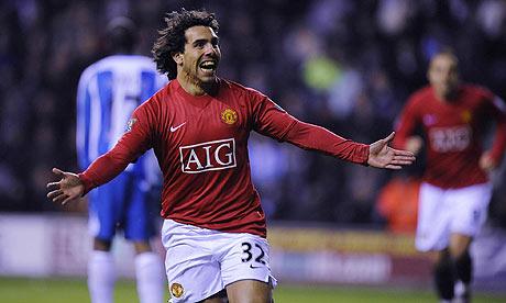 Carlos Tevez scores