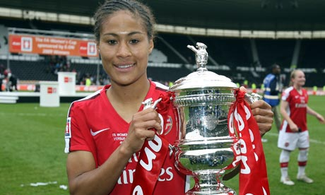 Arsenal's Rachel Yankey is one of the players rewarded with a central contract