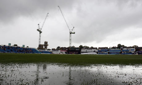 The first one-day international, at Headingley, was abandoned due to a waterlogged outfield