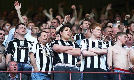 Dejected Newcastle fans