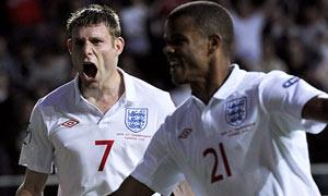 England Under-21s celebrate