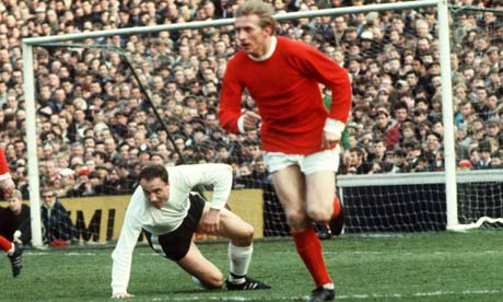 Denis Law wearing the red of Manchester United in 1967