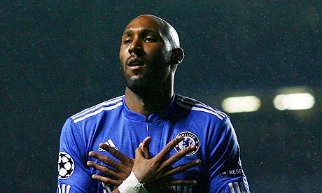 Nicolas Anelka celebrates putting Chelsea ahead
