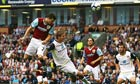 David Nugent rises above the Sunderland defence to score his first goal for Burnley