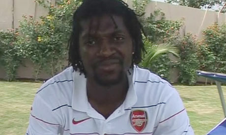 VIDEO: Adebayor explains why he wore an Arsenal shirt in SSN interview yesterday
