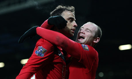 Rooney and Berbatov celebrate