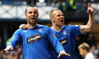 Kris Boyd and Kenny Miller of Rangers