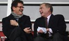Trevor Brooking, right, and Fabio Capello