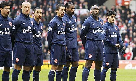 Arsenal v Stoke, line-up